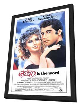 Grease - 27 x 40 Movie Poster - Style A - in Deluxe Wood Frame