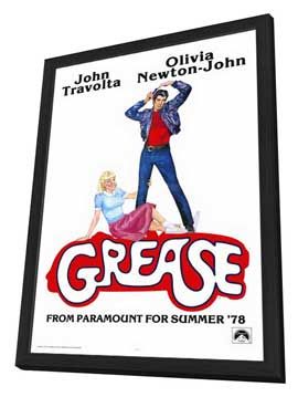 Grease - 27 x 40 Movie Poster - Style D - in Deluxe Wood Frame