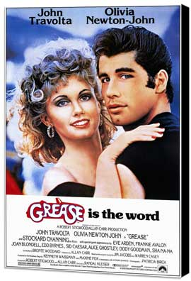 Grease - 11 x 17 Movie Poster - Style A - Museum Wrapped Canvas