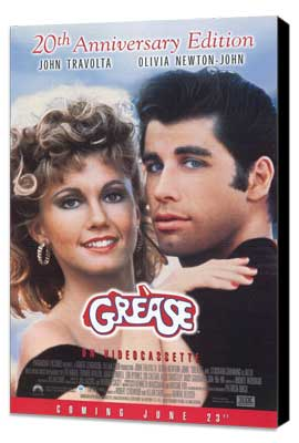 Grease - 11 x 17 Movie Poster - Style B - Museum Wrapped Canvas