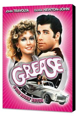 Grease - 11 x 17 Movie Poster - German Style B - Museum Wrapped Canvas