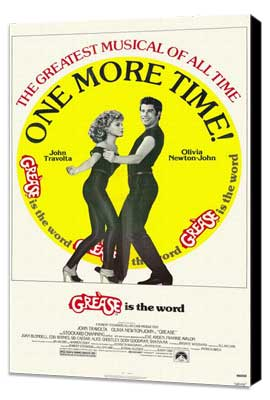 Grease - 27 x 40 Movie Poster - Style B - Museum Wrapped Canvas
