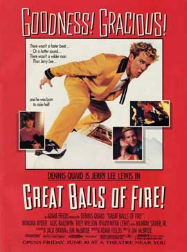 Great Balls of Fire - 27 x 40 Movie Poster - Style G