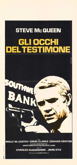 The Great St. Louis Bank Robbery - 11 x 17 Movie Poster - Italian Style A