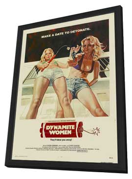 The Great Texas Dynamite Chase - 11 x 17 Movie Poster - Style B - in Deluxe Wood Frame