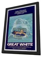 Great White - 27 x 40 Movie Poster - Style C - in Deluxe Wood Frame
