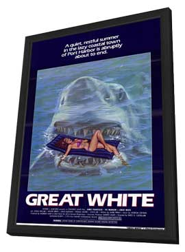 Great White - 11 x 17 Movie Poster - Style B - in Deluxe Wood Frame