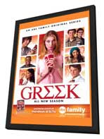 Greek (TV) - 11 x 17 TV Poster - Style A - in Deluxe Wood Frame