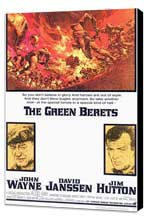 The Green Berets - 11 x 17 Movie Poster - Style A - Museum Wrapped Canvas