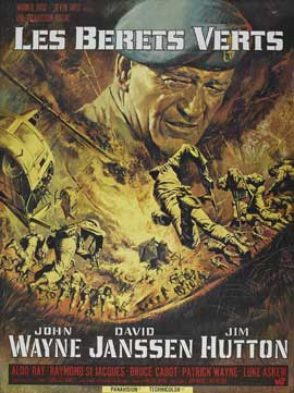 The Green Berets - 27 x 40 Movie Poster - French Style B