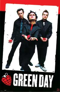 Green Day - Music Poster - 22 x 34 - Style B