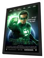 Green Lantern - 27 x 40 Movie Poster - Style C - in Deluxe Wood Frame