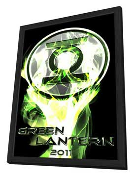 Green Lantern - 11 x 17 Movie Poster - Style F - in Deluxe Wood Frame