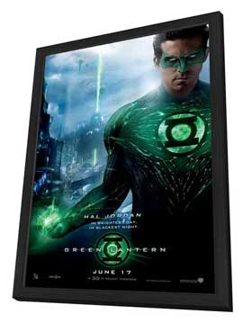 Green Lantern - 11 x 17 Movie Poster - Style L - in Deluxe Wood Frame