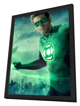 Green Lantern - 27 x 40 Movie Poster - Style B - in Deluxe Wood Frame