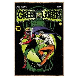 Green Lantern - Comic Book Cover Heavy Gauge Metal Sign