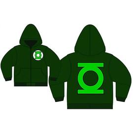 Green Lantern - Logo Green Zip-Up Hooded Sweatshirt