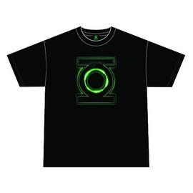 Green Lantern - Movie Glow Logo Black T-Shirt