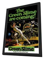 The Green Slime - 11 x 17 Movie Poster - Style A - in Deluxe Wood Frame