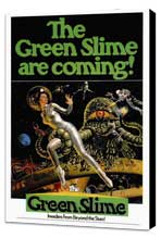 The Green Slime - 27 x 40 Movie Poster - Style A - Museum Wrapped Canvas