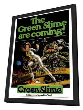 The Green Slime - 27 x 40 Movie Poster - Style A - in Deluxe Wood Frame