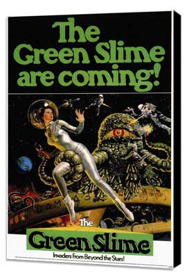 The Green Slime - 11 x 17 Movie Poster - Style A - Museum Wrapped Canvas