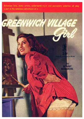 Greenwich Village Girl - 11 x 17 Retro Book Cover Poster