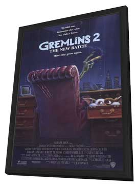 Gremlins 2: The New Batch - 27 x 40 Movie Poster - Style A - in Deluxe Wood Frame