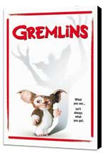 Gremlins - 27 x 40 Movie Poster - Style D - Museum Wrapped Canvas