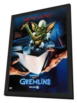 Gremlins - 11 x 17 Movie Poster - Style E - in Deluxe Wood Frame