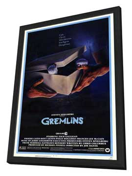 Gremlins - 27 x 40 Movie Poster - Style A - in Deluxe Wood Frame
