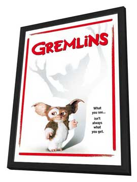 Gremlins - 27 x 40 Movie Poster - Style D - in Deluxe Wood Frame