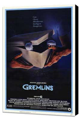 Gremlins - 27 x 40 Movie Poster - Style A - Museum Wrapped Canvas