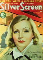 Greta Garbo - 11 x 17 Silver Screen Magazine Cover 1940's Style A