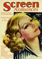 Greta Garbo - 11 x 17 Screen Romances Magazine Cover 1930's