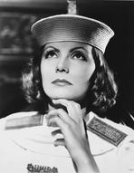 Greta Garbo - Greta Garbo wearing Police Outfit Close Up Portrait