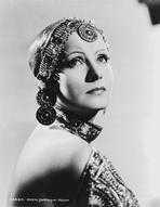 Greta Garbo - Greta Garbo on a Beaded Backless Dress