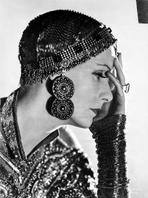 Greta Garbo - Greta Garbo on a Sequin Top to the side Portrait