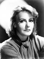 Greta Garbo - Greta Garbo wearing Fur Dress Black and White