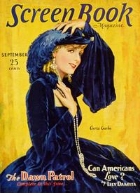 Greta Garbo - 11 x 17 Screen Book Magazine Cover 1930's