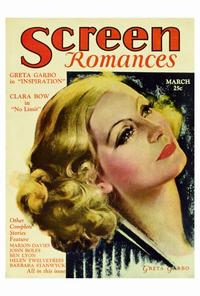 Greta Garbo - 27 x 40 Movie Poster - Screen Romances Magazine Cover 1930's