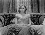 Greta Garbo - Greta Garbo in Gown and sitting Portrait