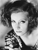 Greta Garbo - Greta Garbo on a Sequin Dress and Looking Up Portrait
