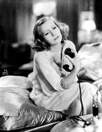 Greta Garbo - Greta Garbo Posed Holding Telephone Portrait