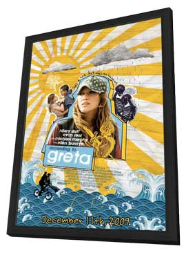 Greta - 11 x 17 Movie Poster - Style A - in Deluxe Wood Frame