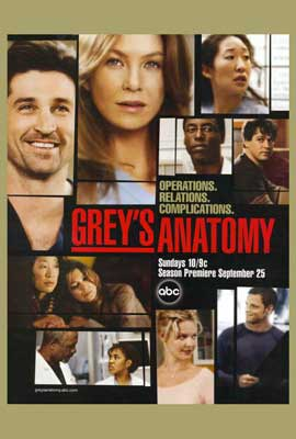 Grey's Anatomy - 27 x 40 TV Poster - Style A