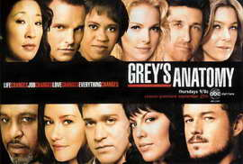 Grey's Anatomy - 27 x 40 Movie Poster - Style E