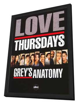 Grey's Anatomy - 11 x 17 TV Poster - Style C - in Deluxe Wood Frame