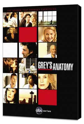 Grey's Anatomy - 11 x 17 TV Poster - Style H - Museum Wrapped Canvas