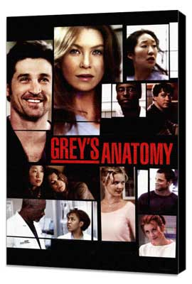 Grey's Anatomy - 27 x 40 TV Poster - Style B - Museum Wrapped Canvas